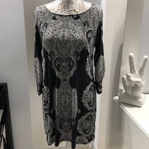 Black and white paisley dress by INC